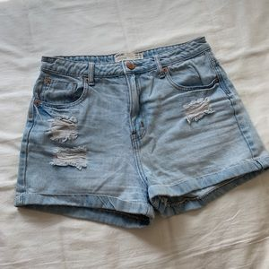 Cotton On High Waisted Jean Shorts